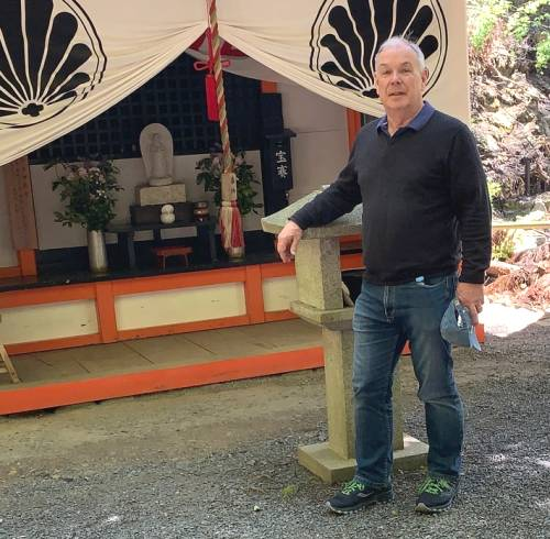 Roy at the temple where Usui first practised in Japan