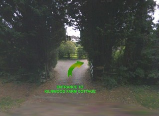 The entrance to Kilnwood Farm Cottage